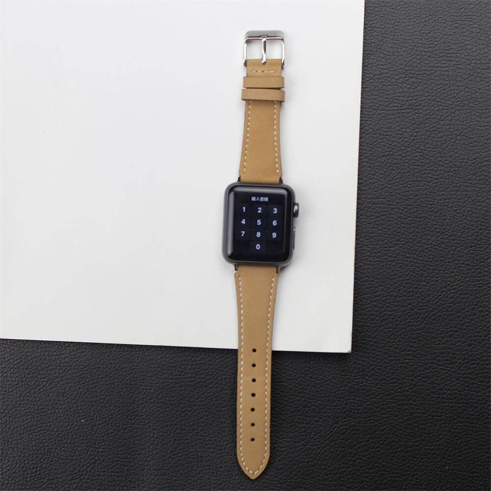 Detail Gambar Honioer Kulit Pergelangan Tangan Tali Jam Pita Gesper Sabuk Replaceme untuk Jam Tangan IWatch Apple 42 Mm Terbaru
