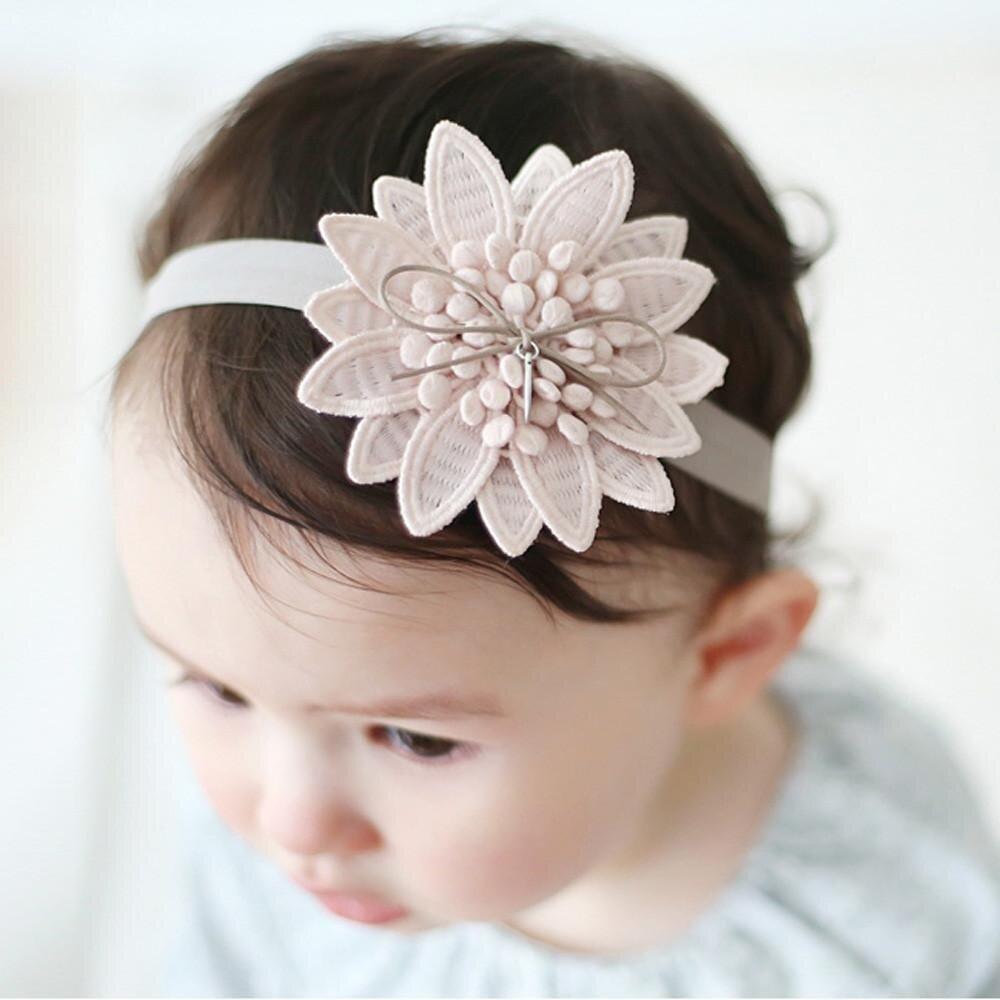 Bayi Rambut Tajam Sudut Ikat Kepala Bunga Pita Baru Lahir Rambut Anak