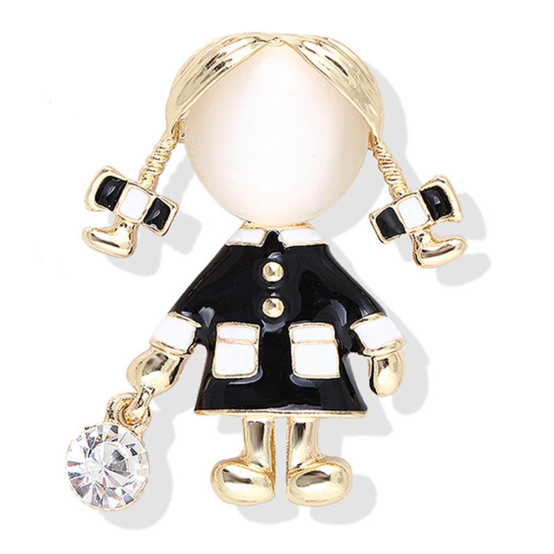 Gadis Kecil Bros Wanita Berlian Tiruan Opal Bros Kristal Pin Gaun Mantel Hadiah Perhiasan By Buy Tra.