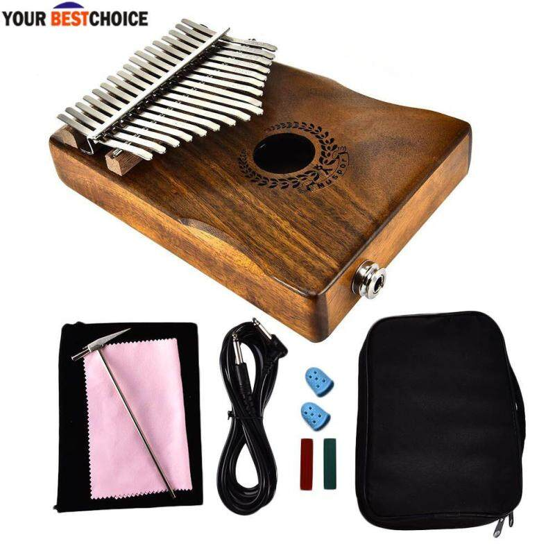 YBC Mahogany Wood 17 Key Kalimba Mbira Thumb Piano with Pickup Malaysia