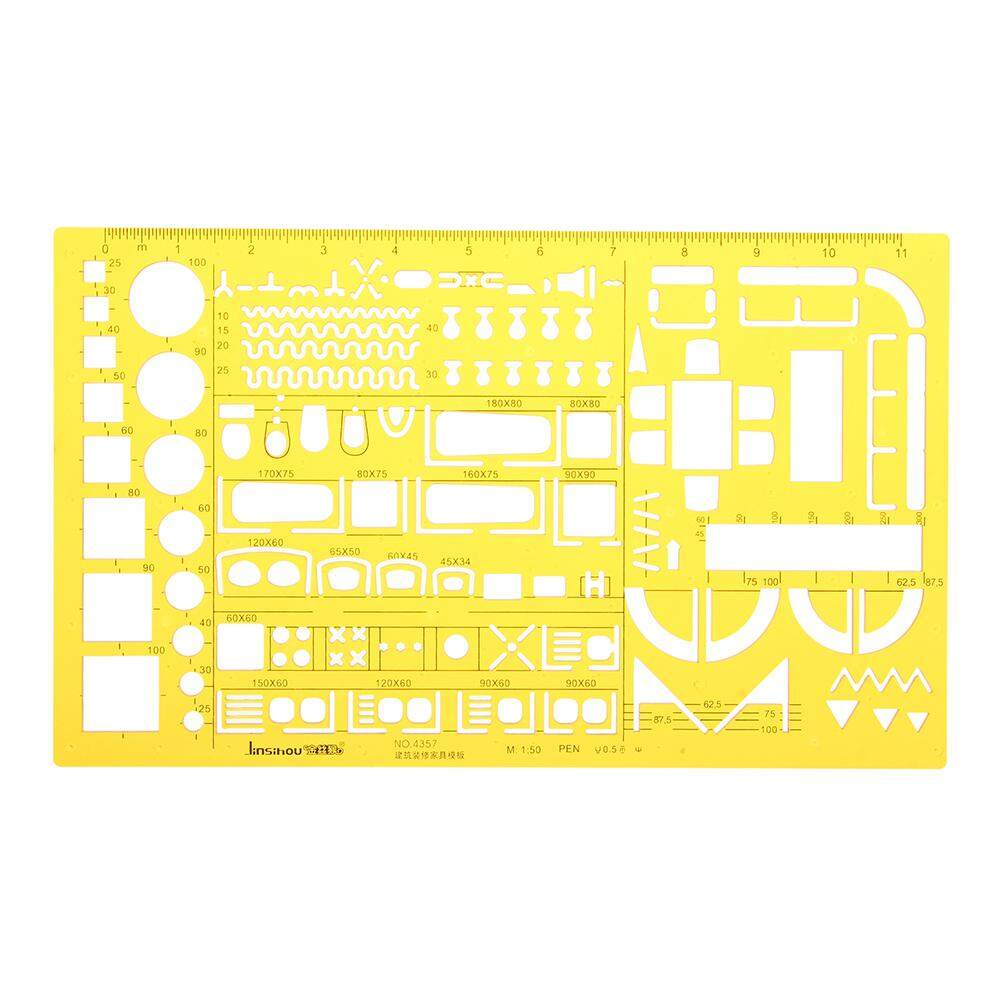 Mua 1:50 Interior Decorations Architectural Furniture Drawing Template KT Soft Plastic Ruler Stencil