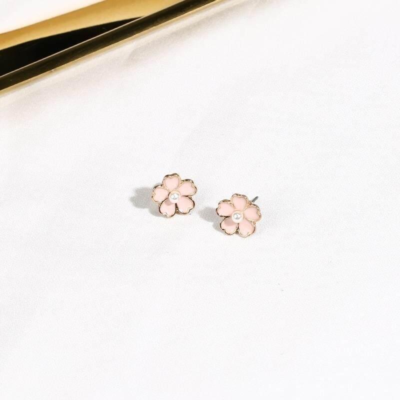【Anting-anting bunga sakura】Lu Fei merah muda cherry kalung gadis-gadis