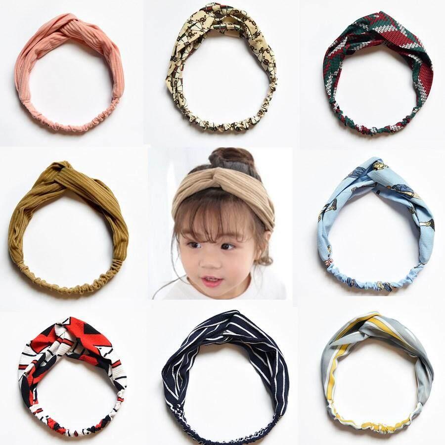 Baby Girl Headbands eBay Source · 9pcs Flowers Print Floral Butterfly Bow Elastic Hair band Girls Turban Knot Headbands Children Headwear3