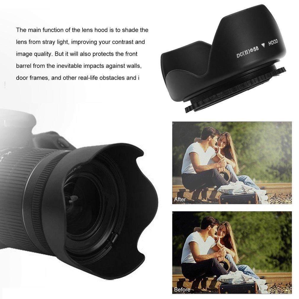 Yika 58 Mm Bunga Bentuk Penutup Lensa Dudukan Baut Kelopak Mahkota untuk Canon DC-SN Lensa Kap