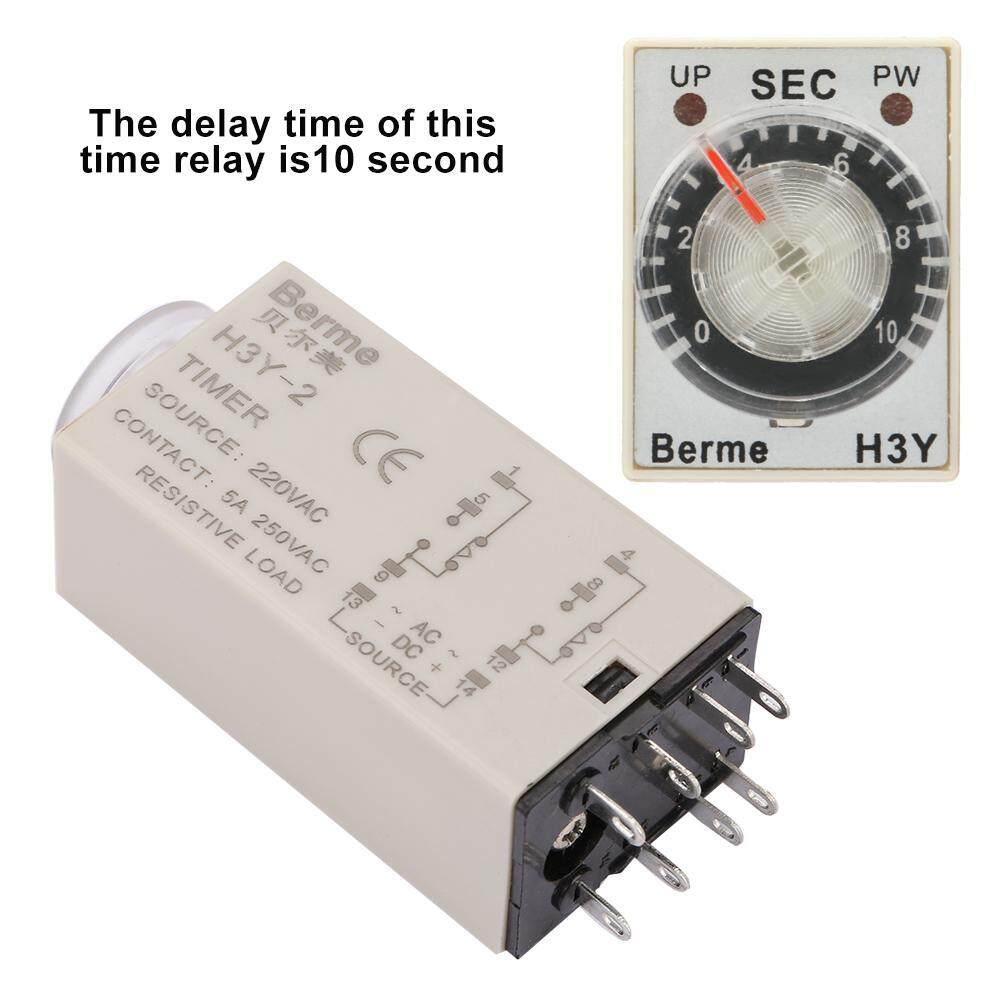 【Time Terbatas Promotions】ac 220 V H3Y-2 Timer Penundaan Waktu Relay 0-10 Detik 10 S 10sec