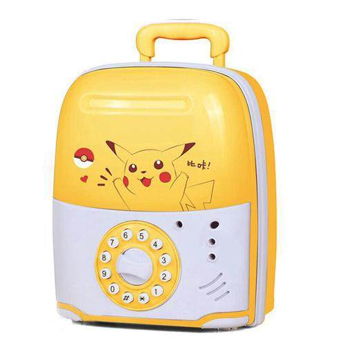 【Pikachu】Multifunctional Trolley Case Mischief Money Saving Box