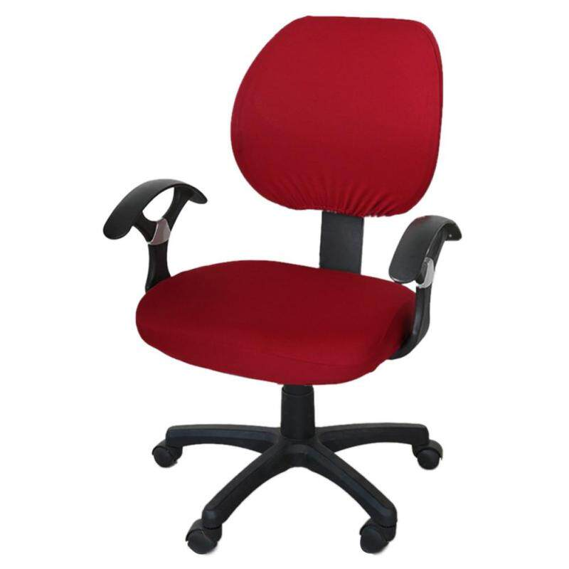 Office Separated Chair Cover Swivel Chair Computer Armchair Protector Executive Task Slipcover Internet Bar Back Seat Cover giá rẻ
