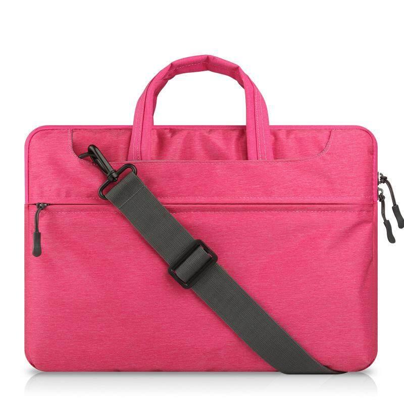 Dengan Harga Murah Tas Tangan Laptop Felt untuk Mac Book Air/Pro/Retina Tahan Air Tempurung Pelindung Casing Notebook 15 Inches Comput (Berwarna Merah Muda) -Intl