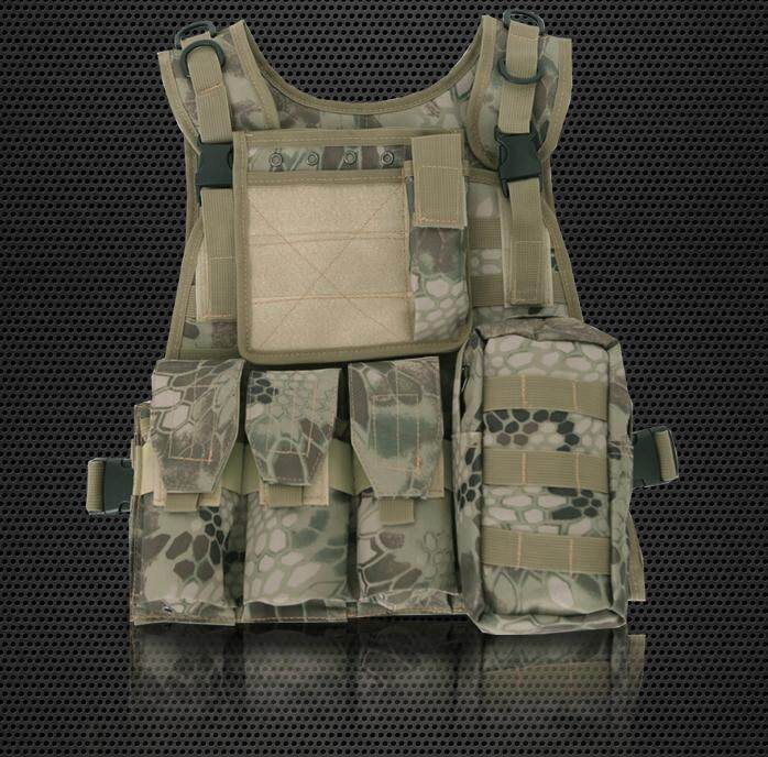 Amphibious Forces Camouflage Combat Vest Multi Pockets Fishing Tactical Cs Outdoor By Glimmer.