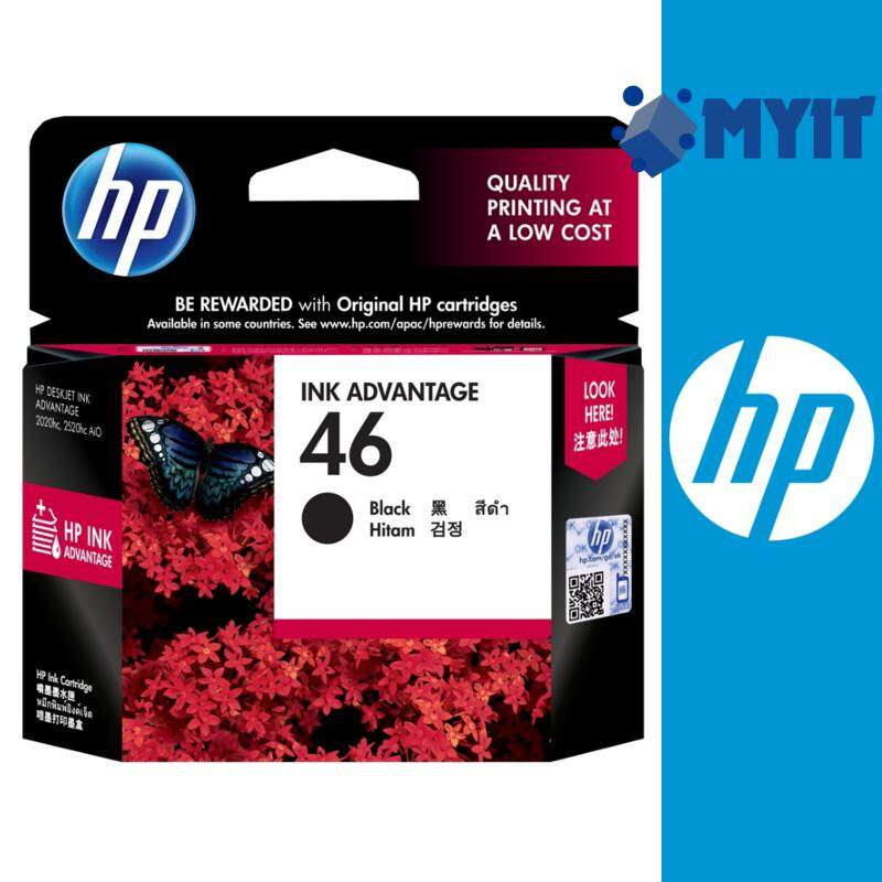 HP Original 46 Black Ink Cartridge for Deskjet 2020hc 2029 2520hc AiO 2529 4729