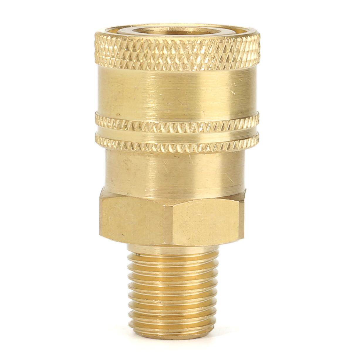 2pcs Pressure Washer 1/4 Male (NPT) Brass Quick Connect Coupler