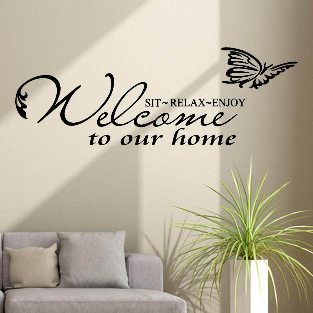 Fantnesty Selamat Datang Di Rumah Dapat Dilepas Seni Vinyl Mural Kamar Rumah Dekorasi Stiker Dinding