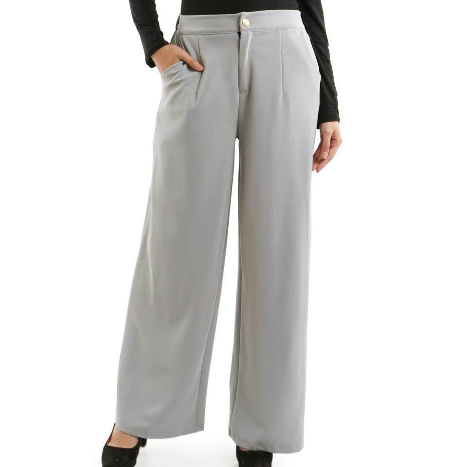 JF Fashion Angelo Flare Slacks Pant with Buttons F402