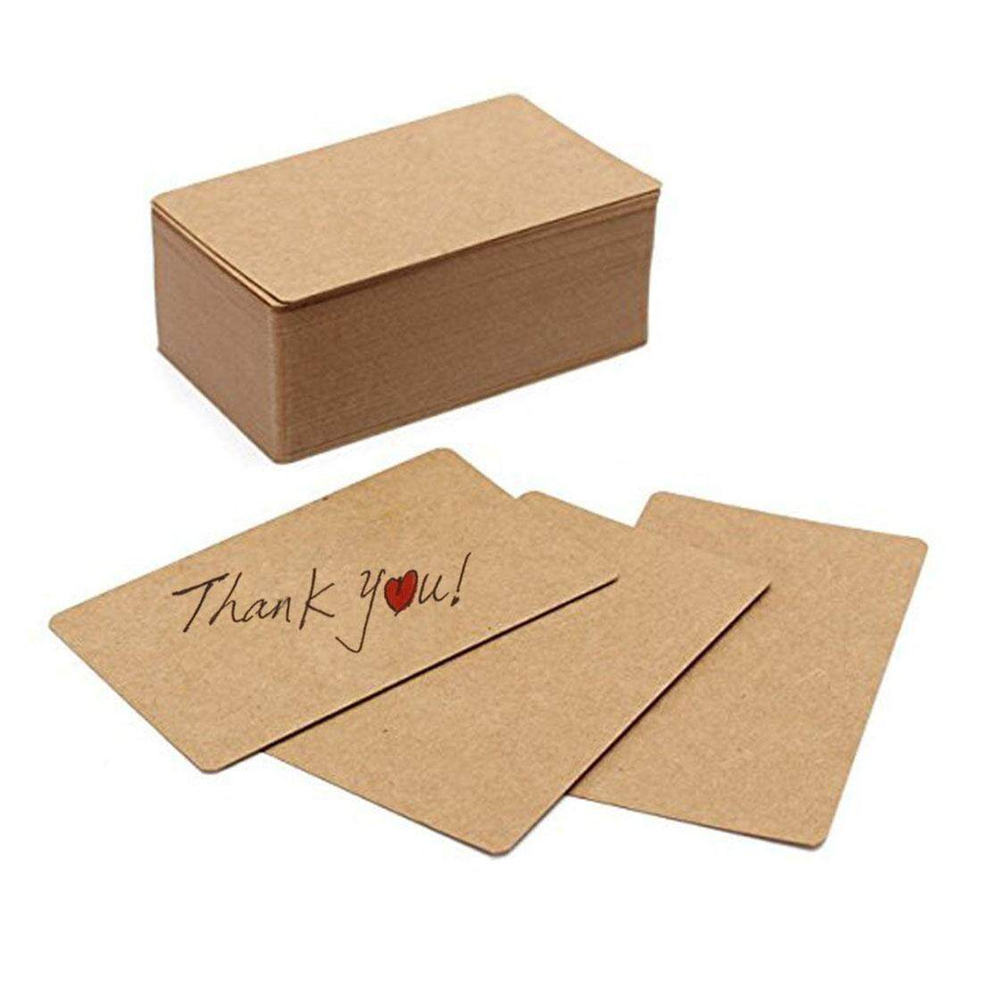 fee857a5493 100pcs Blank Kraft paper Business Cards Word Card Message Card DIY Gift Card  - intl