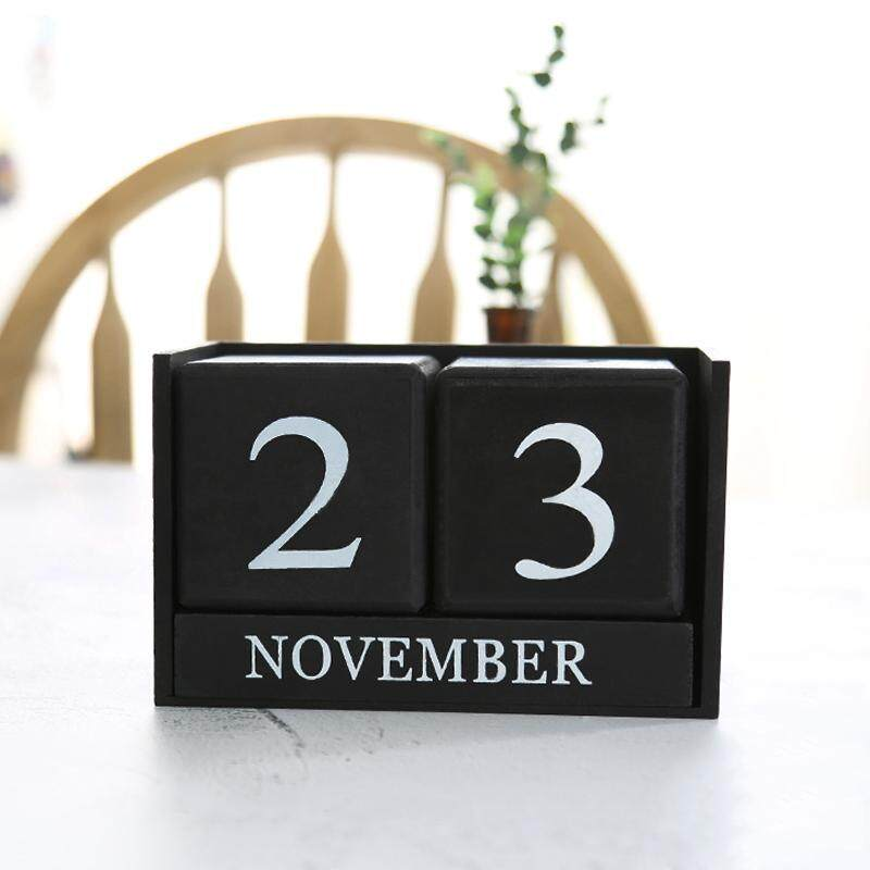 Mua ABH Vintage Wooden Perpetual Desk Calendar DIY Agenda