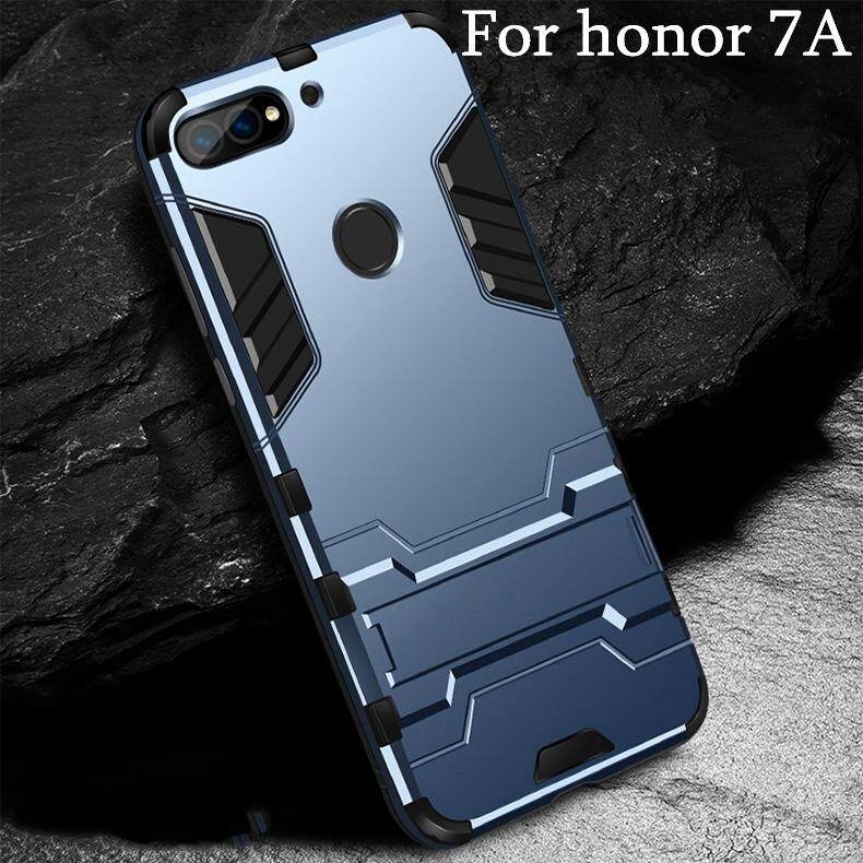 For Huawei Honor 7A Case Rugged Amor Shockproof Soft Rubber Bumper + Hard Plastic Back Casing