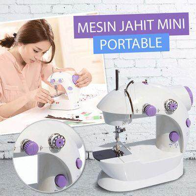 Mini Sewing Machine with Double Threads and Two Speed Control