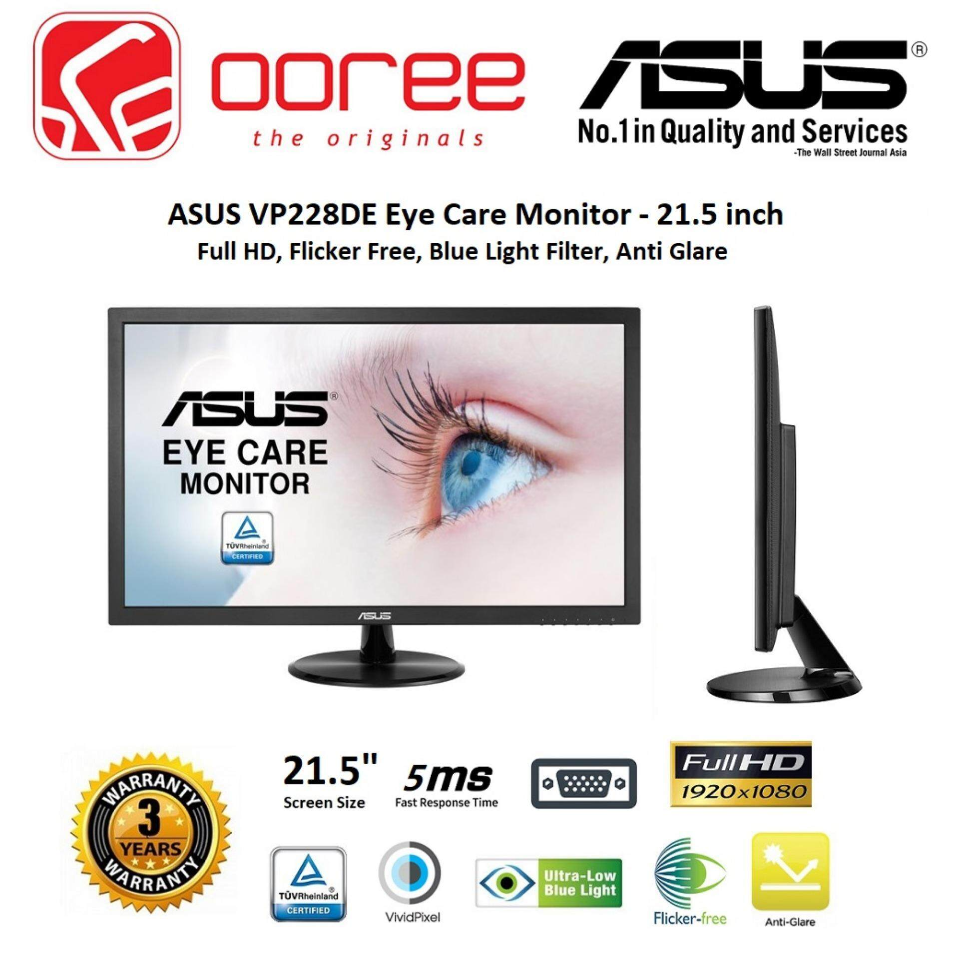 GENUINE ASUS LED FLAT HD 21.5 VS228DE LCD MONITOR (5MS/VGA/VESA) BLACK Malaysia