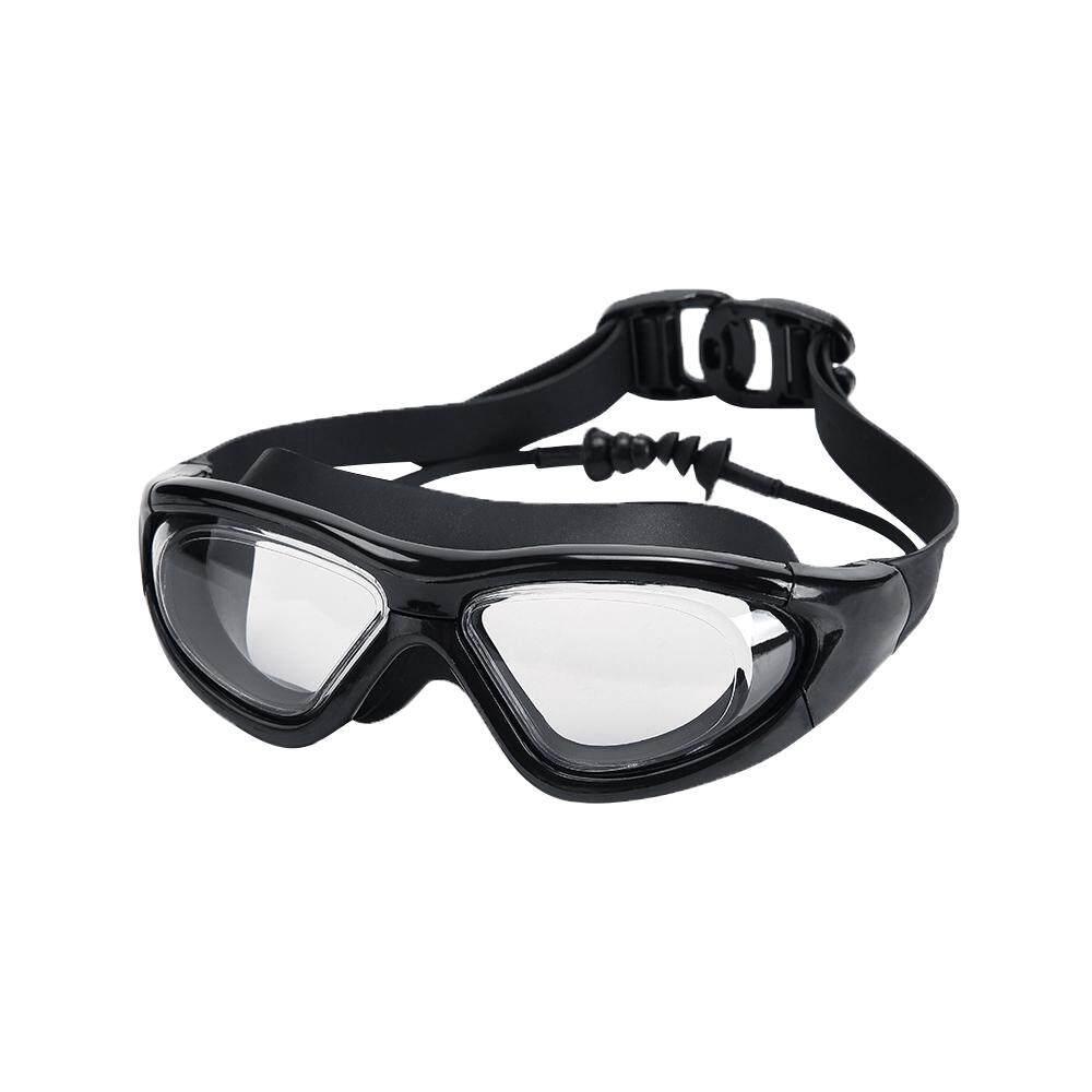 Bening Lensa & Lebar-Vision Silikon Renang Kacamata Olahraga dengan Dibangun Di-Dalam Earplugs untuk Wanita Dewasa Pria-Internasional