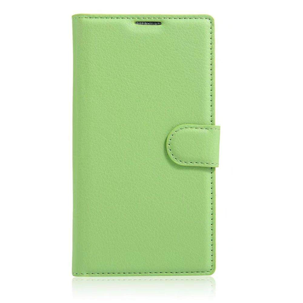 Leather Flip Cover Phone Case Wallet Card Holder For ZTE Blade S6 Plus - intl