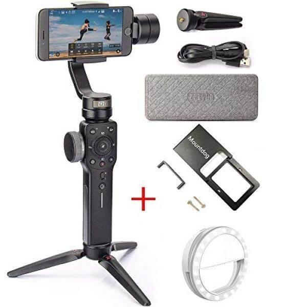 Zhiyun Halus 4 3-Stabilisator Poros Gimbal dengan Aksi Adaptor Kamera Ponsel Lampu untuk iPhone X 8 PLUS 7 6 SE Samsung GoPro pahlawan 6/5 Fokus Tarik & Zoom ponsel Pembuat Film, Objek Pelacakan