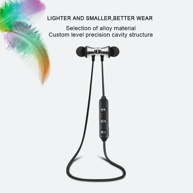 Yuci S8 Bluetooth 4.1 Earphone Stereo Hook Bin Gaya Bebas Aural Headphone dengan Mikrofon Headset Olahraga