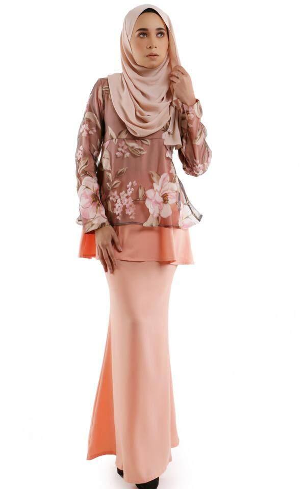 JF Fashion Demna Organza Printed Lace Peplum Set M406