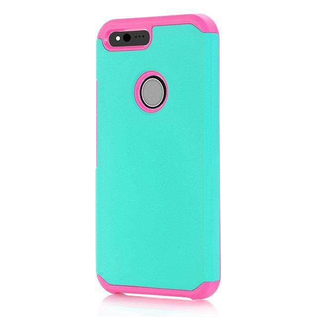 AS Beauty Phone Case for HTC Google Pixel XL Case 2-in-1 TPU Double Layer Drop Protection Cellphone Cover Shockproof Slim Mobile Phone Back Case - intl