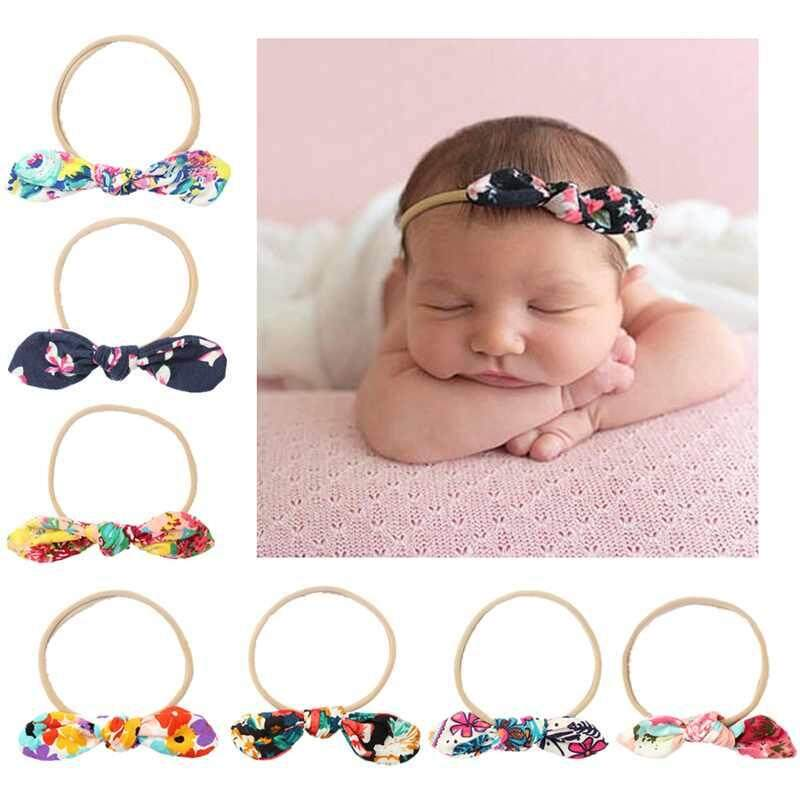 b4b665c30ad Sway 1PC Fashion Baby Cute Bow Hairband Turban Knotted Hair Band Headband