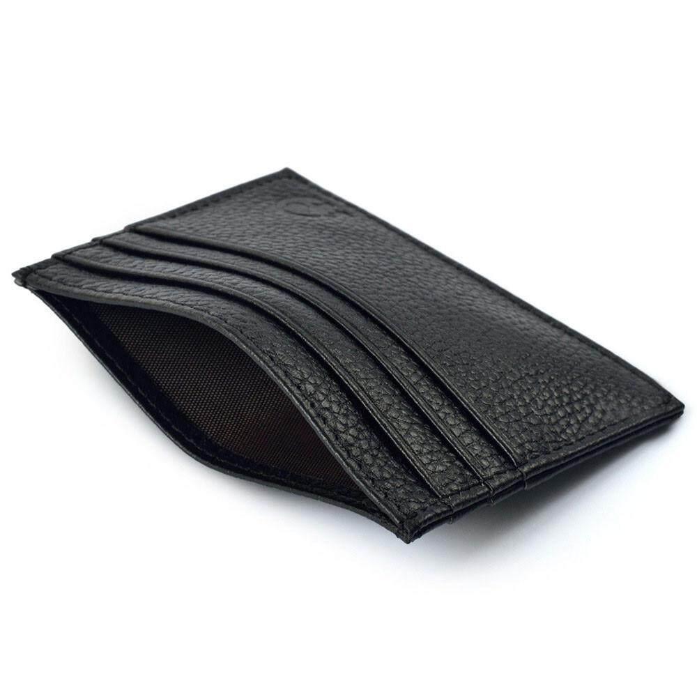 Mode Slim Kredit Tempat Kartu Dompet Mini ID Wadah Dompet Tas Kantung Hitam - 2