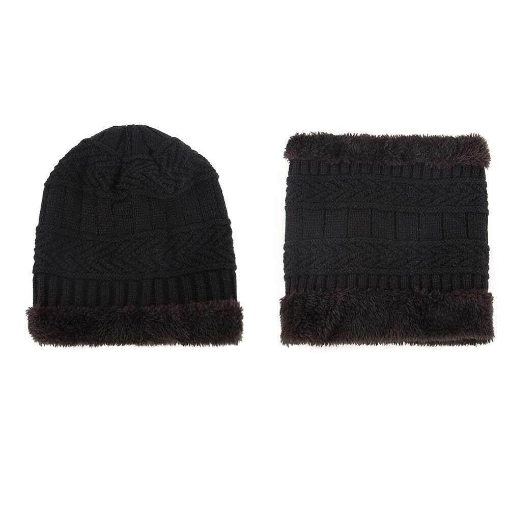 Lightsmile Baby Kids Hat Scarf Set,winter Warm Crochet Knit Beanie Cap Thicken Weaving Wool Hat Bib Two-Piece For Boys/girls By Lightsmile.
