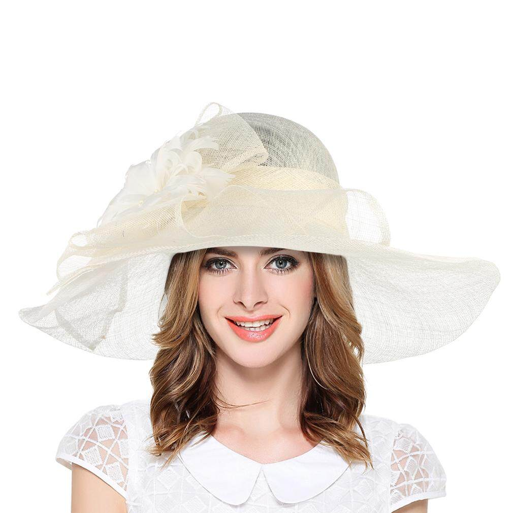 e646e0e1 GEMVIE Summer Women Hats Wide Brim Sunhat Europe Style Breathable Line Gauze  Hat Beach Hat With