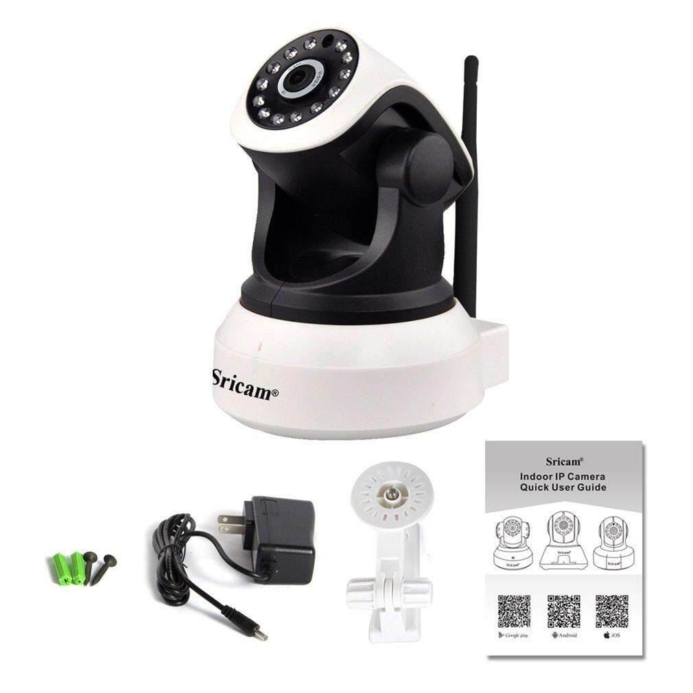 Sricam 1280*720 Outdoor Security Camera Waterproof Wireless Wifi House Webcam Black & White US Plug - intl