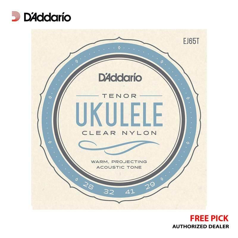 [USA MADE & Original] DAddario EJ65T Tenor Ukulele Strings Clear Nylon Set + Free Pick Malaysia
