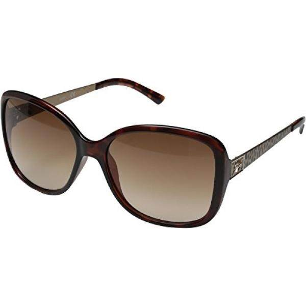 GUESS Wanita Asetat Kacamata Hitam Kotak Kebesaran untuk-34, 58 Mm-Intl