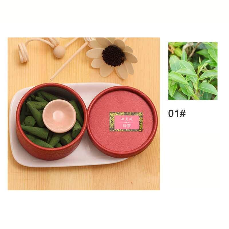 Canglex Alam Dupa Aromaterapi Sandalwood Rose Aroma Parfum Set (Teh Hijau)