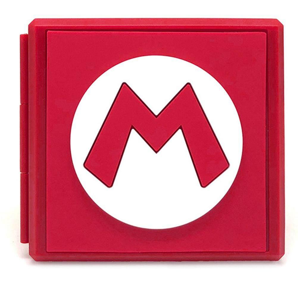 HxM Portable Sakelar NS Wadah Kartu Permainan NS Kartu Tf Kartu SD Mikro Shockproof Kotak Penyimpanan untuk Nintendo Switch NS Kotak Kartu Permainan
