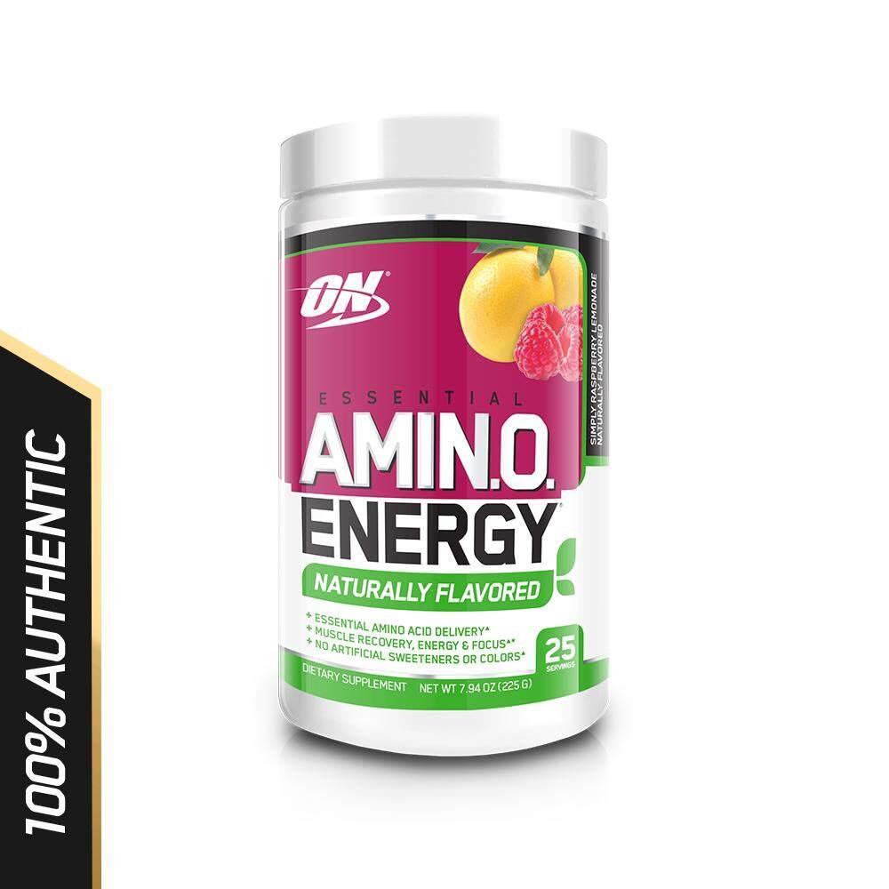 Optimum Nutrition Amino Energy Natural Flavour 225g - Simply Raspberry Lemon