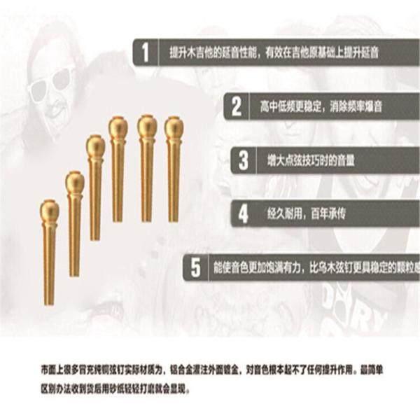 Flanger Bộ Chân Cầu Đàn Guitar Bằng Đồng Cupreous Guitar Phần Nhạc Cụ Vàng