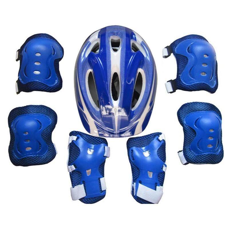 Mua 360WISH 7Pcs Ice Skates Protective Gear Helmet Set for 5-11 Year-old Children - Dark Blue