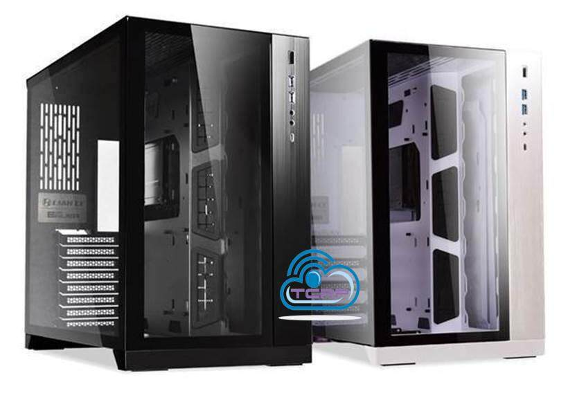 LIAN LI PC-O11 DYNAMIC DER8AUER TEMPERED GLASS ALUMINIUM E-ATX CASING White Malaysia