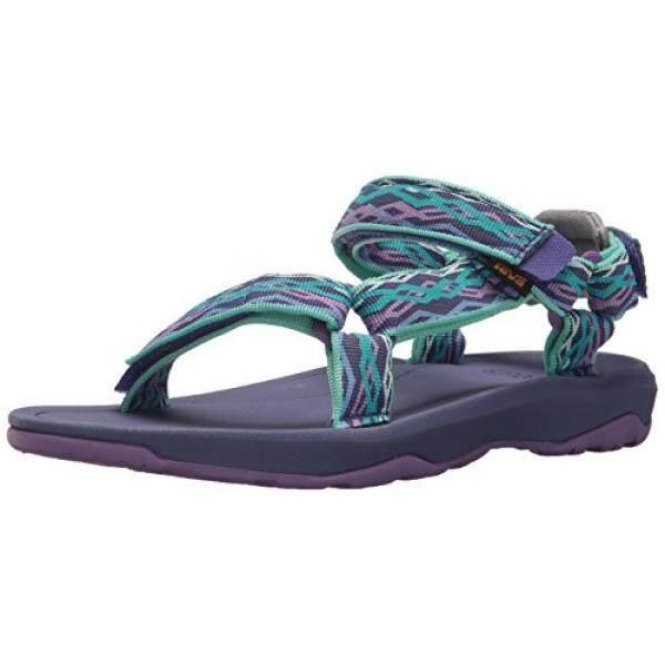 Teva Girls Y Hurricane XLT port Sandal, Delmar Sea Glass/Purple, US Big Kid - intl