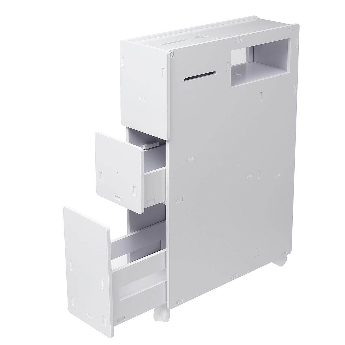 Bathroom Storage Cupboard Cabinet White Wooden Standing Toilet Rack Organizer By Glimmer.