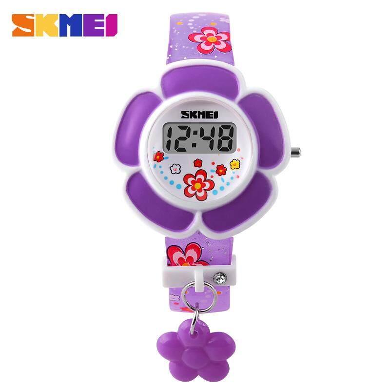 SKMEI นาฬิกาดิจิตัลเด็กเด็กหญิงการ์ตูนแฟชั่นนาฬิกาข้อมือลำลอง LED นาฬิกาข้อมืออิเล็กทรอนิกส์ 1144