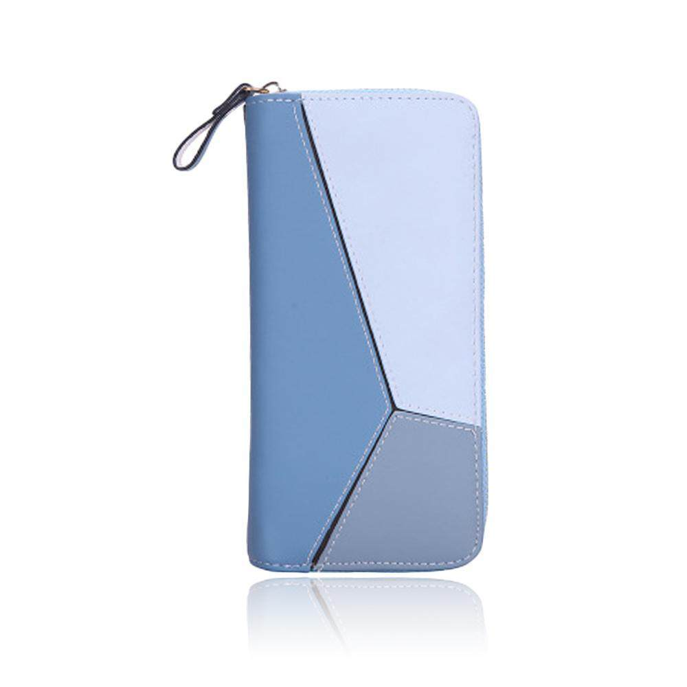 niceEshop New Korean Style Lady Wallet Geometry Puzzle Large Capacity Clutch Bag Female Coin Purse Fashion