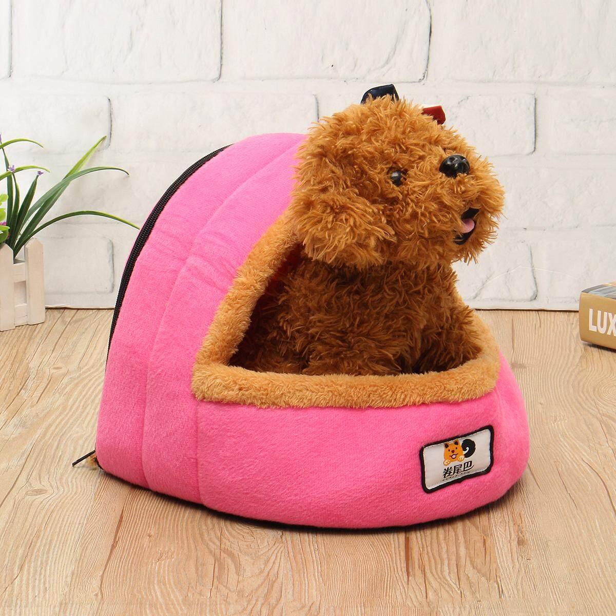 Hình ảnh Soft Warm Pet Nest Bed Winter Sleeping Cave House Mat Cushion Cat Dog Comfort - intl
