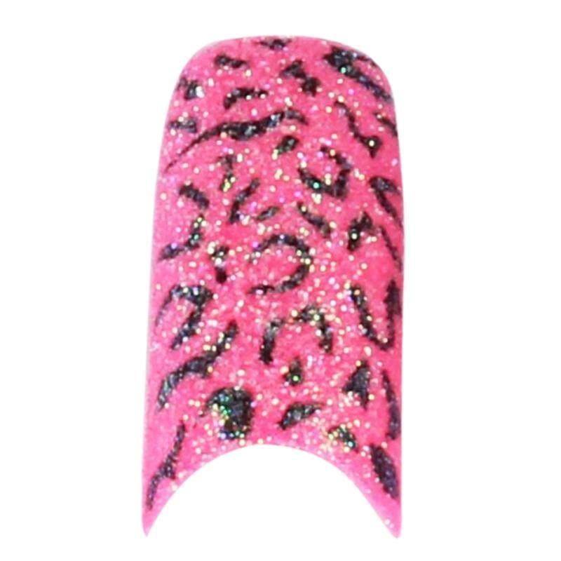 70 Pcs Berkilau Warna-warni Palsu Glitter Ujung Kuku Warna Lebar Tips Nail Art (