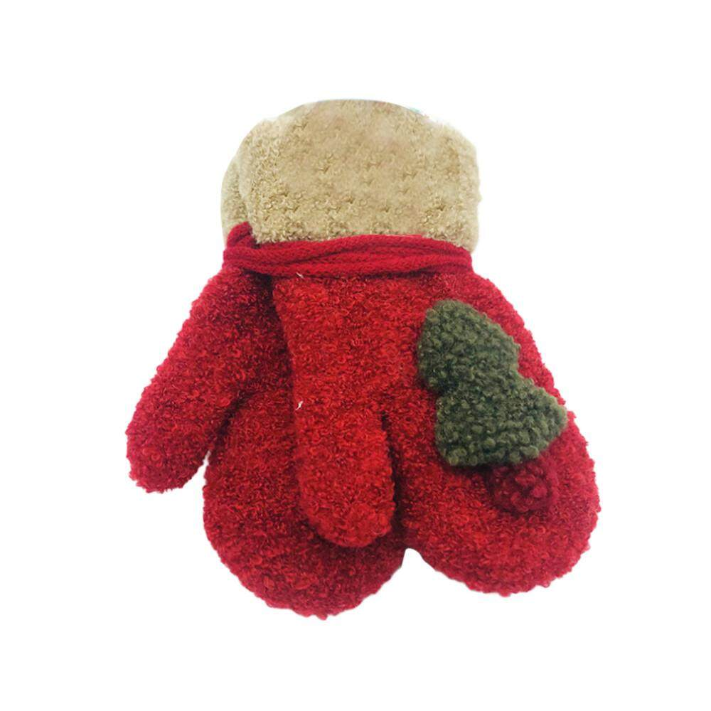 Tideshop ต้นคริสต์มาสเครื่องประดับเด็กหญิงน่ารักถุงมืออุ่น Xmas ของขวัญ By Tideshop.