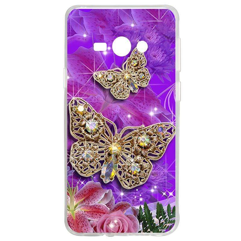 High Quality Butterfly TPU Soft Silicon Phone Case Cover For Samsung Galaxy J1 Ace J110