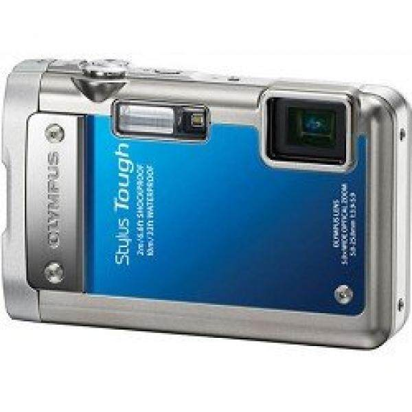 Stylus Olympus Tough 8010 14MP Kamera Digital dengan 5x Wide Angle Zoom dan 2.7 Inch LCD (Biru)